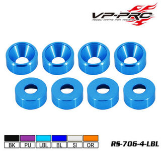 VP Pro M4 Countersunk Light Blue Washer