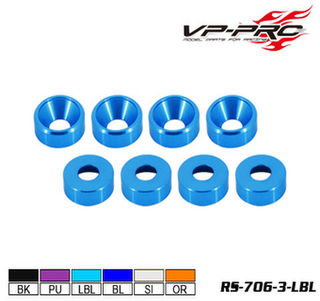 VP Pro M3 Countersunk Light Blue Washer