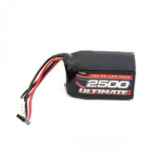 ULTIMATE 7.4V. 2500 LIPO HUMP RECEIVER BATTERY PACK JR