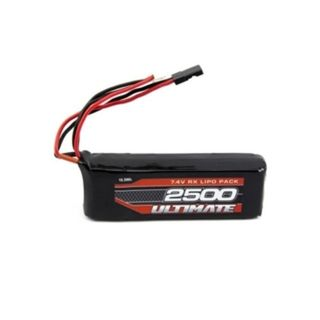 ULTIMATE 7.4V. 2500 LIPO FLAT RECEIVER BATTERY PACK JR