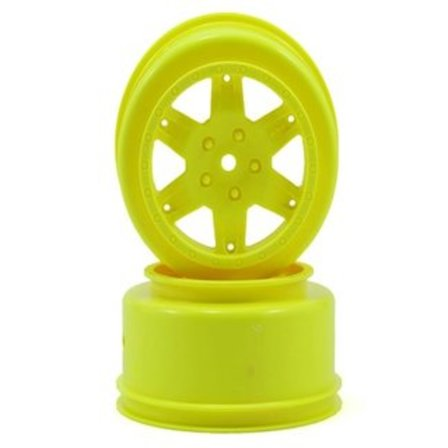 TLR TEAM LOSI RACING 12MM HEX SHORT COURSE SCT WHEELS YELLOW